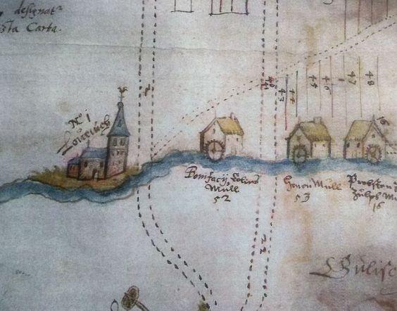 Historische Mühlenkarte